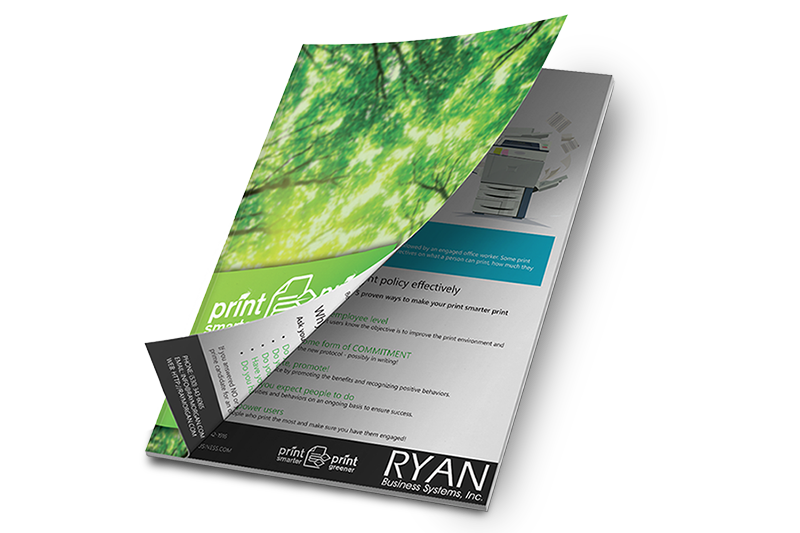 RYAN Business Systems Suggests an Office Print Policy to help reduce paper in the office
