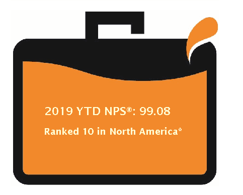 2017 Overall NPS ranking in North America